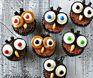 cupcake, owl, and food image