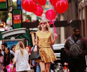 Taylor Swift, red, and style image
