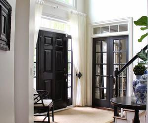 beautiful, stairs, and black door image