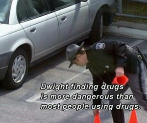 drugs, dwight, and funny image