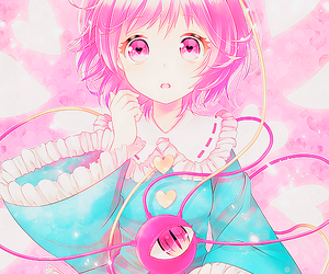 anime, cute, and pink image