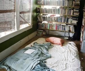 book, room, and bed image