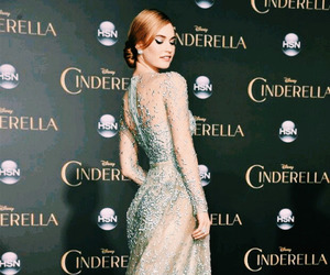 cinderella, disney, and lily james image