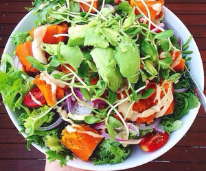 healthy, salad, and food image