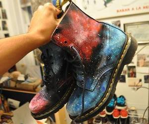 boots, shoes, and galaxy image