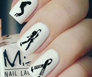 michael jackson and black and white nails image
