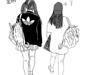 outline, drawing, and adidas image