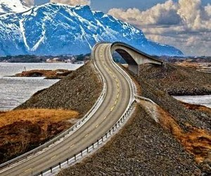 road, mountains, and norway image