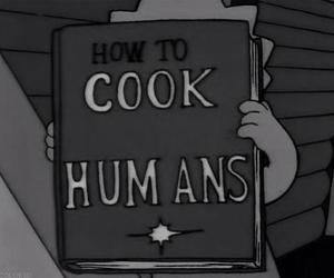 cook, humans, and simpsons image