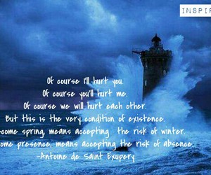 lighthouse, quotes, and antoine de saint exupery image