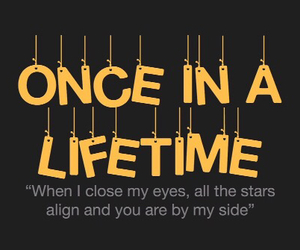 Lyrics, once in a lifetime, and one direction image