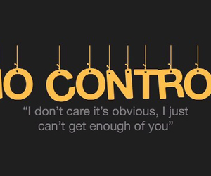 Lyrics, no control, and one direction image