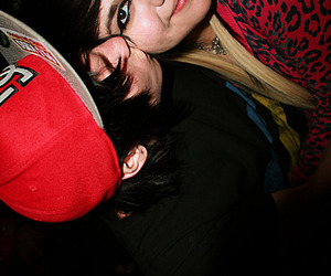 cute couple, hipster, and scene hair image
