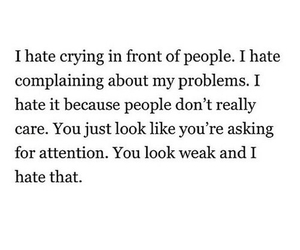 quote, hate, and crying image
