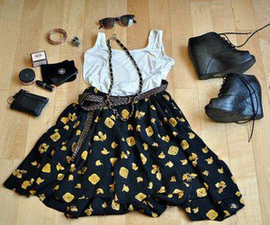 black, yellow, and ♡ image