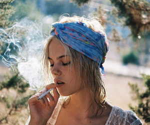 beauty, cigarette, and indie image