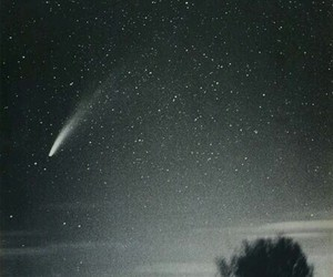 night, comet, and sky image