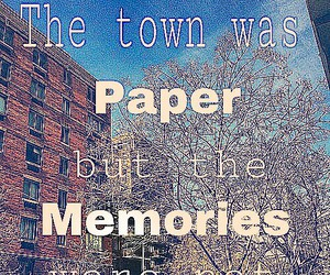 john green, memories, and paper towns image