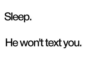 sleep and text image