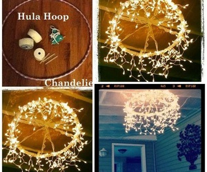 diy, chandelier, and decor image