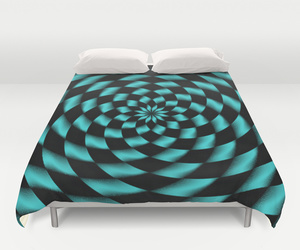 bedding, pattern, and blue image