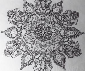 art, black and white, and tattoo image