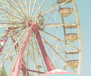 pink, ferris wheel, and fun image