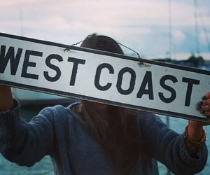 girl, west coast, and beach image