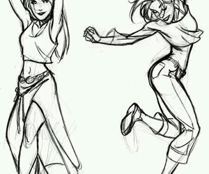 girl, dance, and drawing image