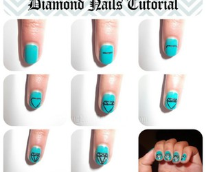 diamond, nails, and step by step image