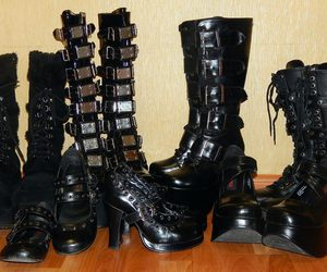 goth, gothic, and gothic boots image