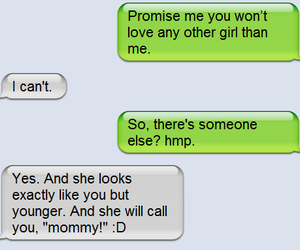 love, text, and mommy image
