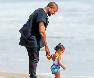 kanye west, north west, and love image