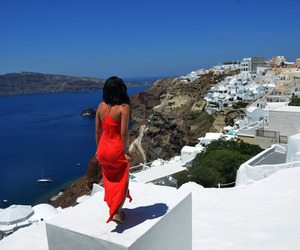 Greece, dress, and brunette image