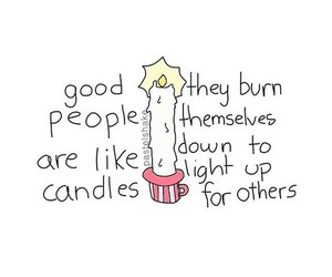 candles and quote image