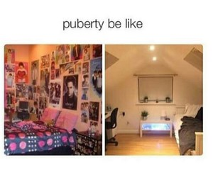 funny, puberty, and lol image