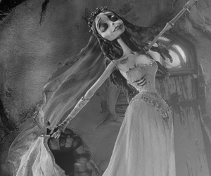 girl, black and white, and death image