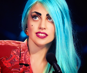 Lady gaga, gaga, and blue image