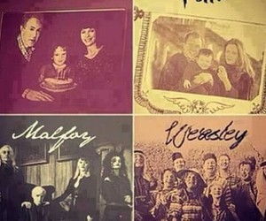 family, malfoy, and harry potter image