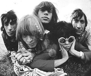rolling stones, the rolling stones, and black and white image