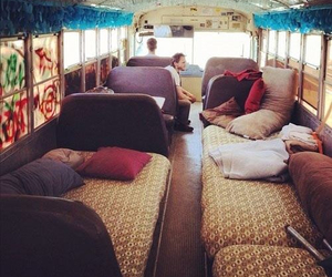 bus, friends, and travel image