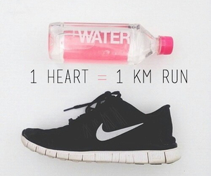 run, nike, and exercise image