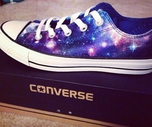converse, galaxy, and fashion image