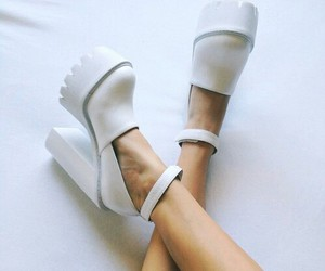 shoe, shoes, and white image