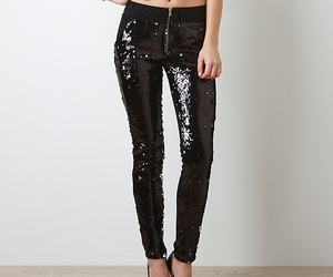 fashion, pants, and sequins image