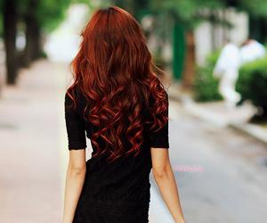 hair, girl, and dress image