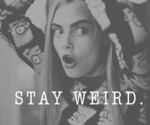 weird, cara delevingne, and model image