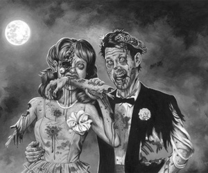 zombie, zombies, and couple image