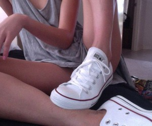 converse, pale, and white image