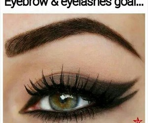 eyebrows, eyelashes, and eye image